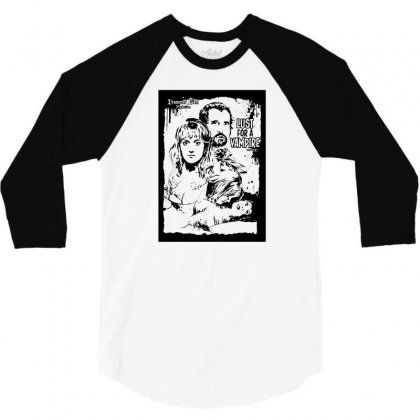 Lust For A Vampire   Hammer Cult Classic T Shirt 3/4 Sleeve Shirt Designed By Lyly