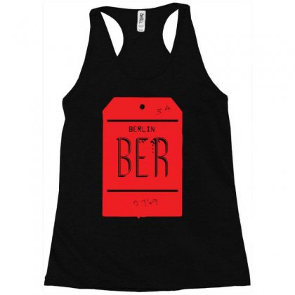 Berlin Luggage Tag Racerback Tank Designed By Yusup