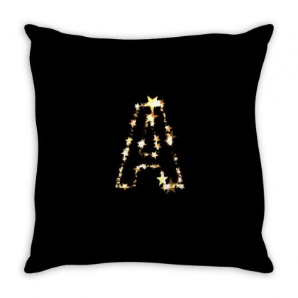 Letter A Stars Throw Pillow Designed By Suemac2020