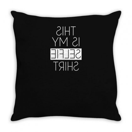 This Is My Selfie Throw Pillow Designed By Yusup