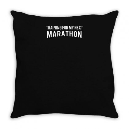 Training For My Next Marathon Throw Pillow Designed By Yusup