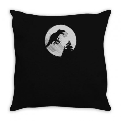 T Rex Moon Throw Pillow Designed By Yusup