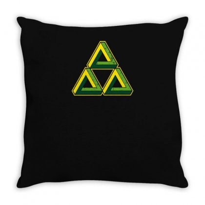 Triforce Illusion Zelda Throw Pillow Designed By Yusup