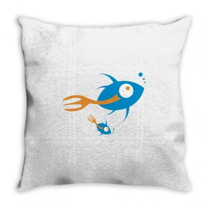 Fish Throw Pillow Designed By Estore