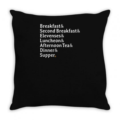 Typical Daily Meals Throw Pillow Designed By Yusup