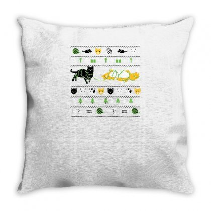 Ugly Cat Shirt Throw Pillow Designed By Yusup