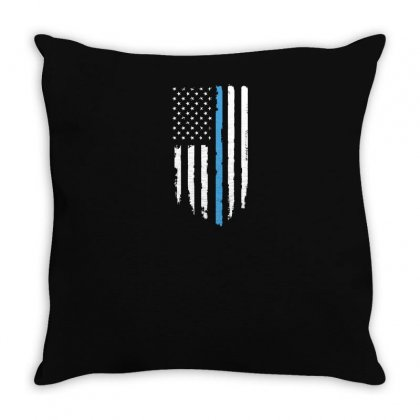 We Back The Blue Throw Pillow Designed By Yusup