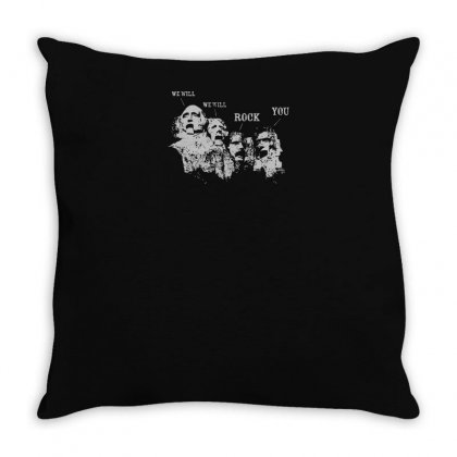 We Will Rock You Throw Pillow Designed By Yusup