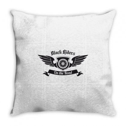 Black Riders On The Road Throw Pillow Designed By Estore