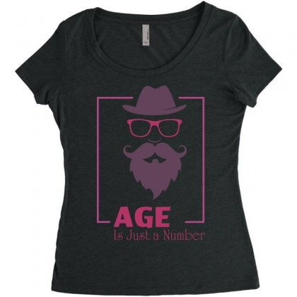 Age Is Just A Number Women's Triblend Scoop T-shirt Designed By Estore