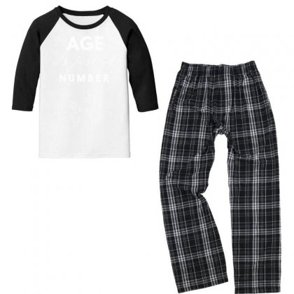 Age Is Just A Number Youth 3/4 Sleeve Pajama Set Designed By Estore
