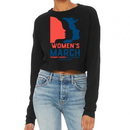 Women's March 2020 Louisiana 2 Cropped Sweater