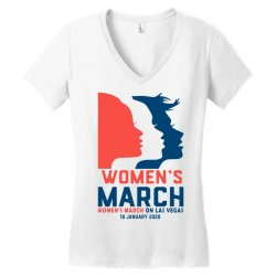 women's march 2020 las vegas 2 Women's V-Neck T-Shirt | Artistshot