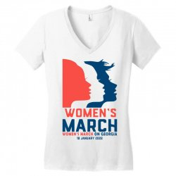 women's march 2020 georgia 2 Women's V-Neck T-Shirt | Artistshot