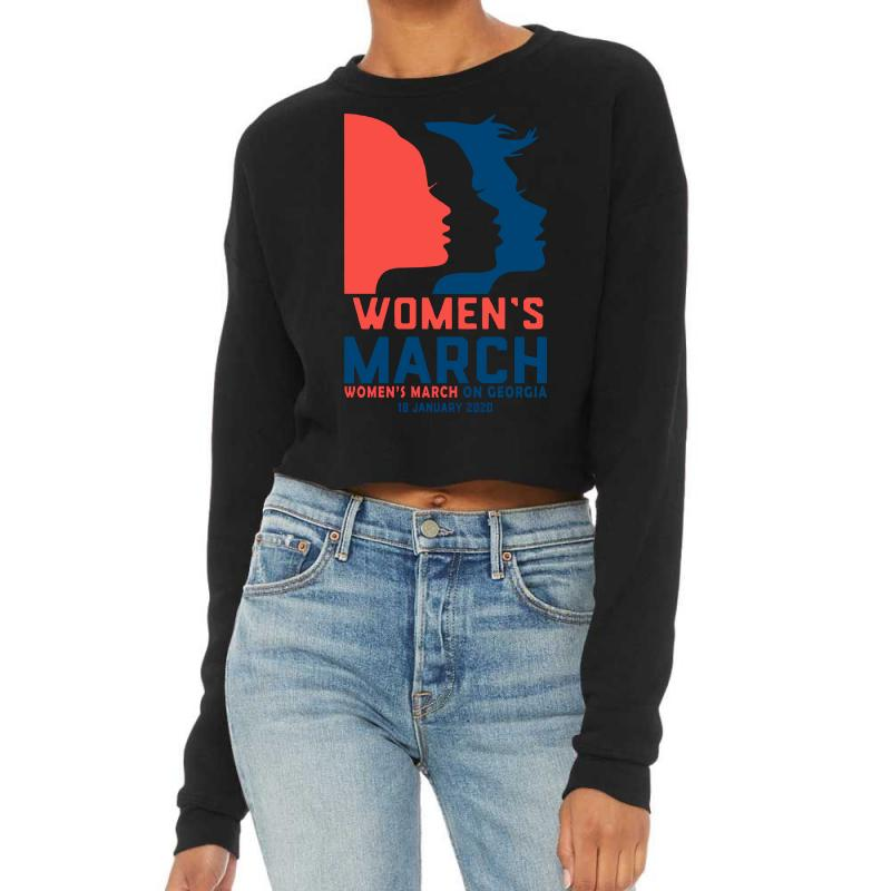 Women's March 2020 Georgia 2 Cropped Sweater | Artistshot