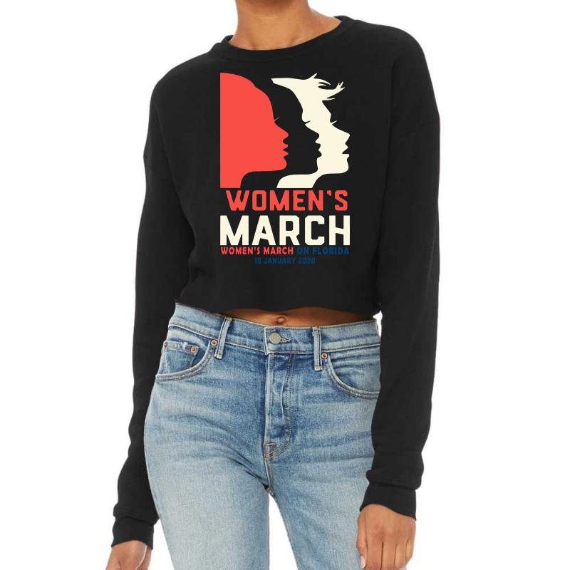 Women's March 2020 Florida Cropped Sweater | Artistshot