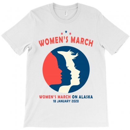 Women's March On Alaska T-shirt Designed By Creative Tees