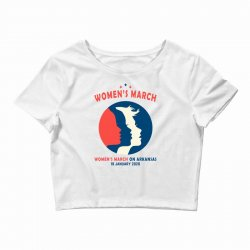 women's march on arkansas Crop Top | Artistshot