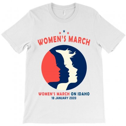 Women's March On Idaho T-shirt Designed By Creative Tees