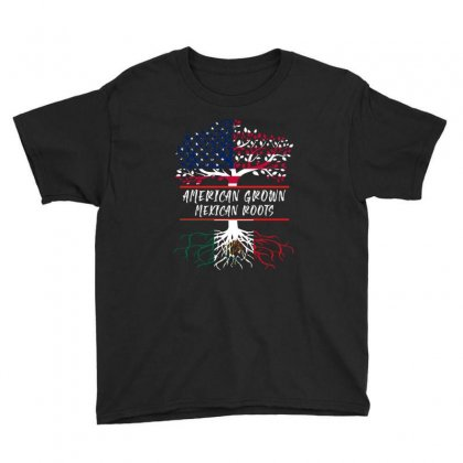 American Grown Mexican Root Youth Tee Designed By Sengul