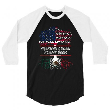 American Grown Mexican Root 3/4 Sleeve Shirt Designed By Sengul