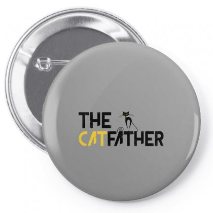 The Cat Father Pin-back Button Designed By Gurkan