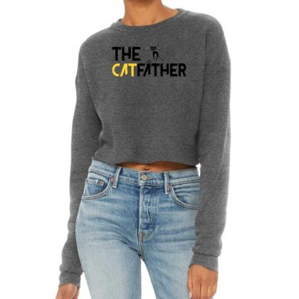 The Cat Father Cropped Sweater Designed By Gurkan