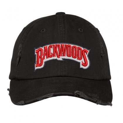 Backwoods Embroidered Hat Distressed Cap