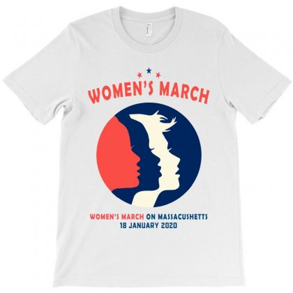 Women's March On Massachusetts T-shirt Designed By Creative Tees