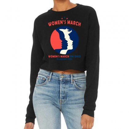 Women's March On Ohio Cropped Sweater