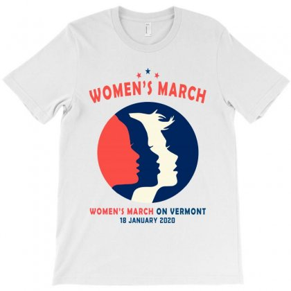 Women's March On Vermont T-shirt Designed By Creative Tees