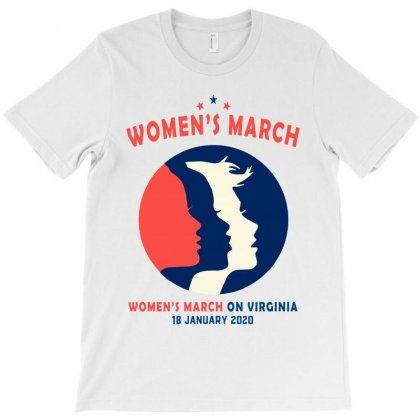 Women's March On Virginia T-shirt Designed By Creative Tees
