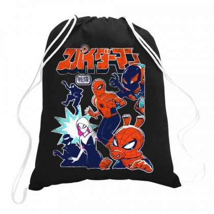 Spider Squad Drawstring Bags Designed By Dongdot Apparel