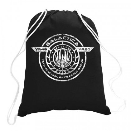 Galactica Bs 75 Drawstring Bags Designed By Dongdot Apparel