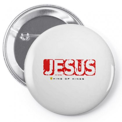 Jesus Is King For Light Pin-back Button Designed By Dongdot Apparel