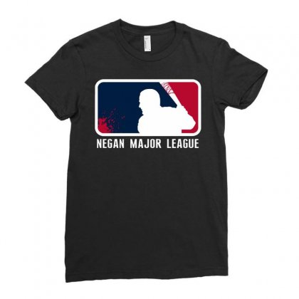 Negan Major League Funny Ladies Fitted T-shirt Designed By Dongdot Apparel