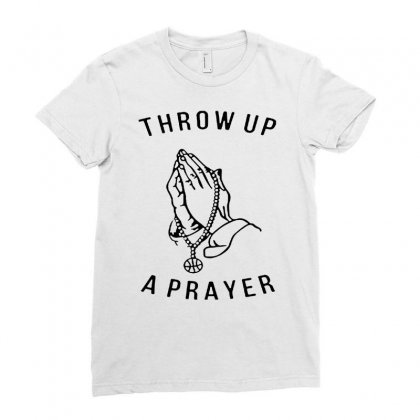 Throw Up A Prayer  For Light Ladies Fitted T-shirt Designed By Dongdot Apparel