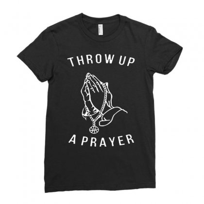 Throw Up A Prayer  For Dark Ladies Fitted T-shirt Designed By Dongdot Apparel