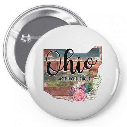 Ohio Has My Childhood Pin-back Button Designed By Honeysuckle