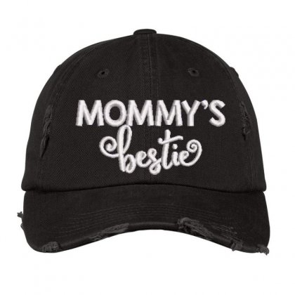 Mommy's Embroidered Hat Distressed Cap Designed By Madhatter