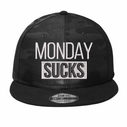 Monday Sucks Embroidered Hat Camo Snapback Designed By Madhatter