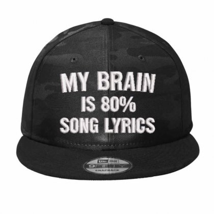 My Brain Embroidered Hat Camo Snapback Designed By Madhatter