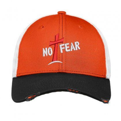 No Fear Embroidered Hat Vintage Mesh Cap Designed By Madhatter