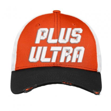 Plus Ultra Embroidered Hat Vintage Mesh Cap Designed By Madhatter
