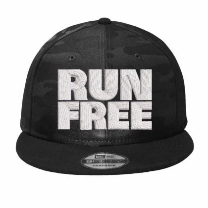 Run Free Embroidered Hat Camo Snapback Designed By Madhatter