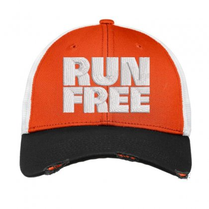 Run Free Embroidered Hat Vintage Mesh Cap Designed By Madhatter