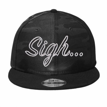 Sigh Embroidered Hat Camo Snapback Designed By Madhatter