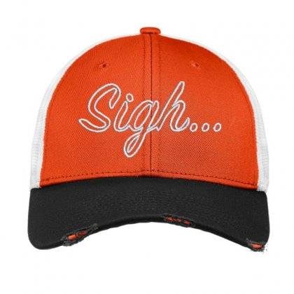Sigh Embroidered Hat Vintage Mesh Cap Designed By Madhatter