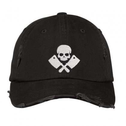 Butcher Embroidered Hat Distressed Cap Designed By Madhatter