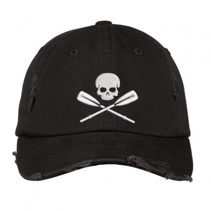 Skeleton Embroidered Hat Distressed Cap Designed By Madhatter